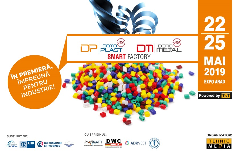 In premiera! Un eveniment unic in Romania: Metal si Plastic, impreuna pentru Industrie!