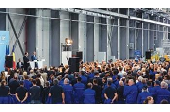 The opening of the new Airbus H 215 helicopters assembly plant in Ghimbav, Brașov