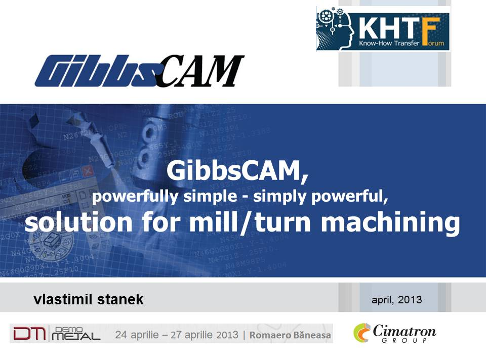 Gibbscam solution for mill/turn machine